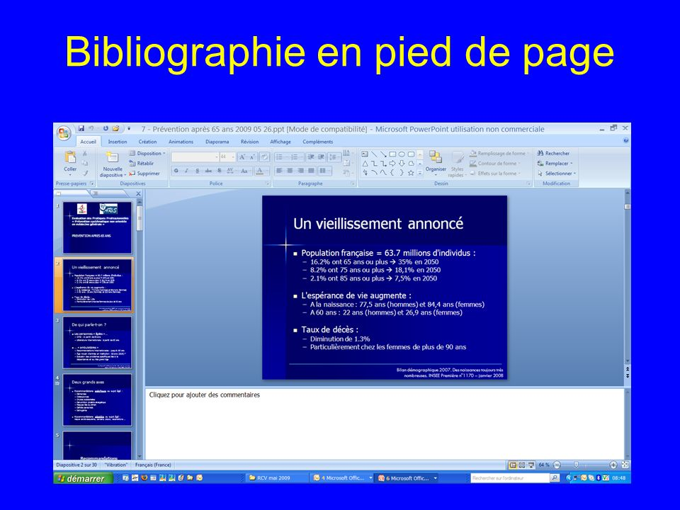 Bibliographie en pied de page 15