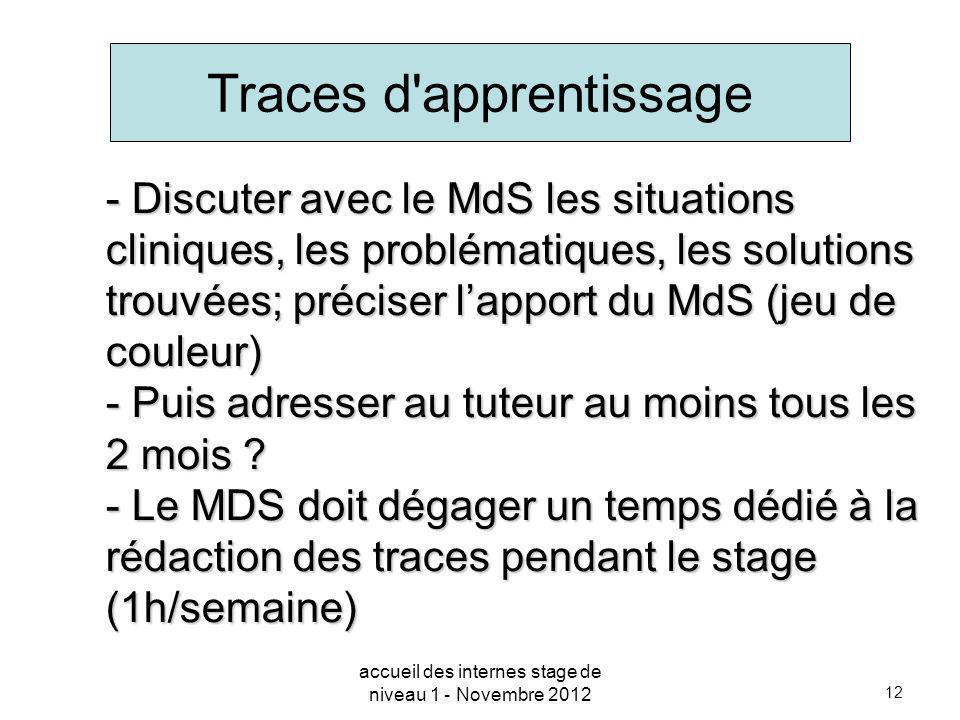 12 - Discuter avec le MdS les situations cliniques, les problématiques, les solutions trouvées; préciser lapport du MdS (jeu de couleur) - Puis adress