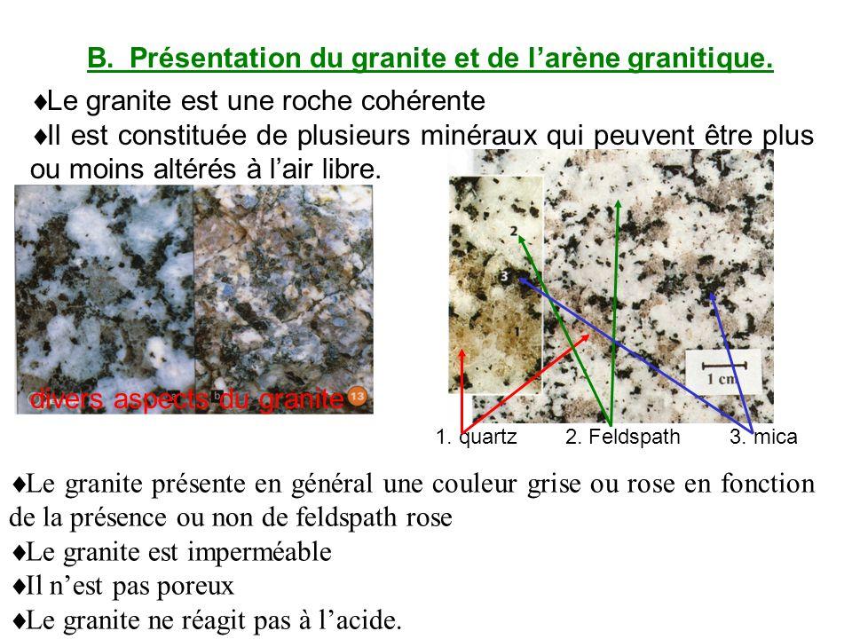 B.Présentation du granite et de larène granitique.