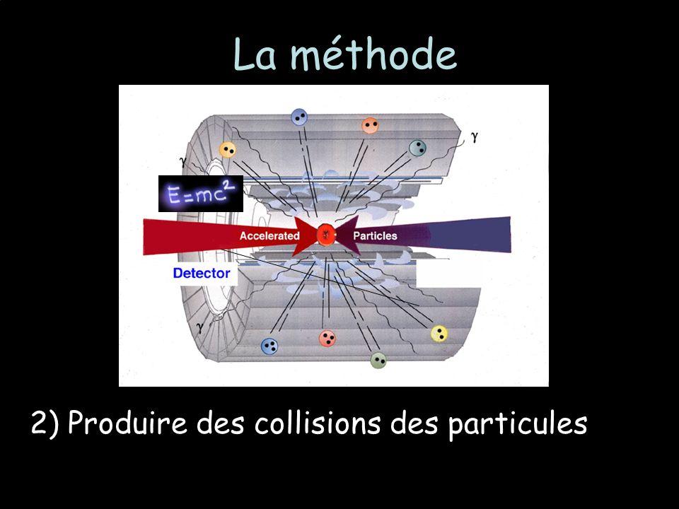 2) Produire des collisions des particules La méthode