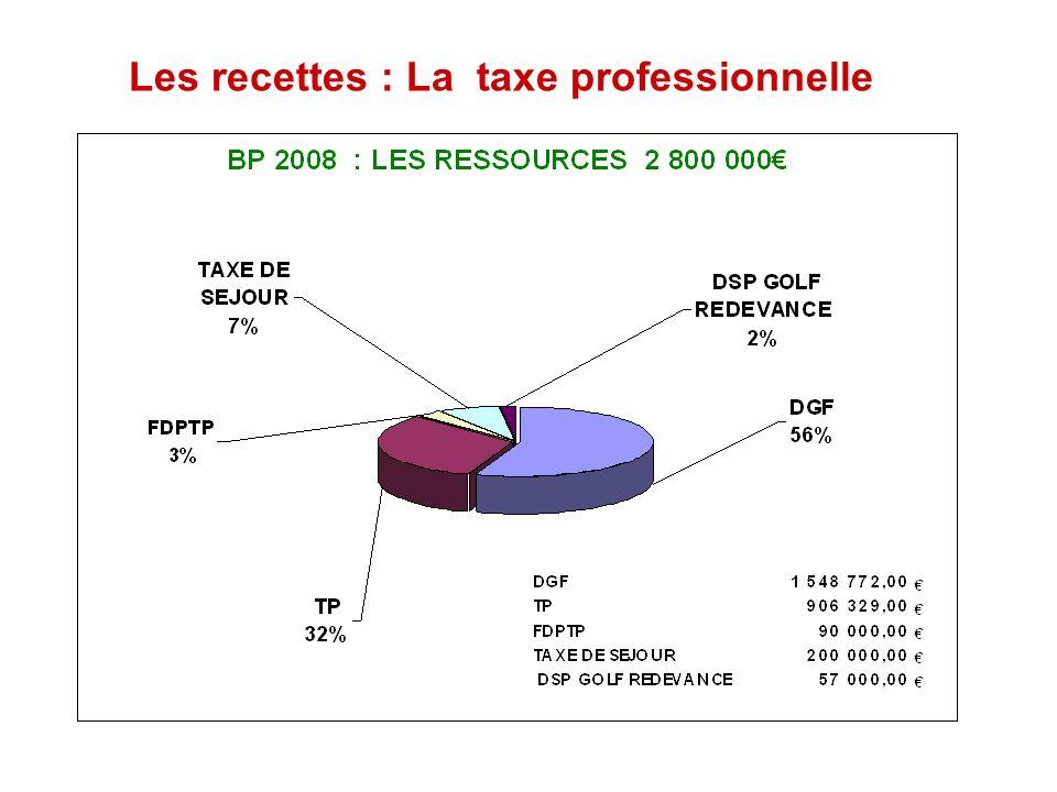 Les recettes : La taxe professionnelle