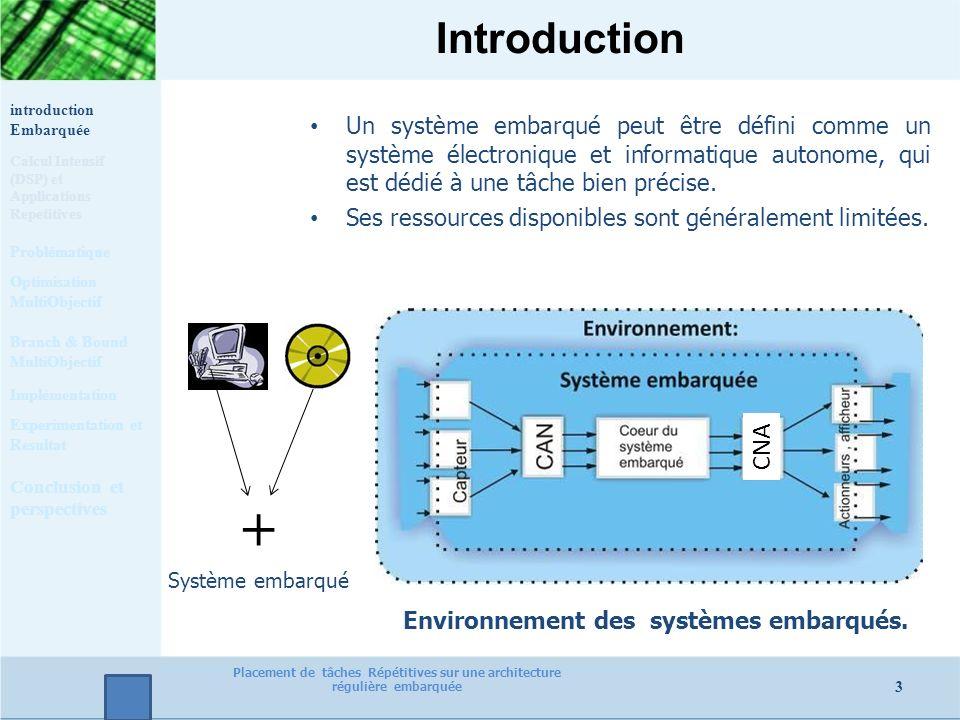 Introduction Un système embarqué peut être défini comme un système électronique et informatique autonome, qui est dédié à une tâche bien précise. Ses