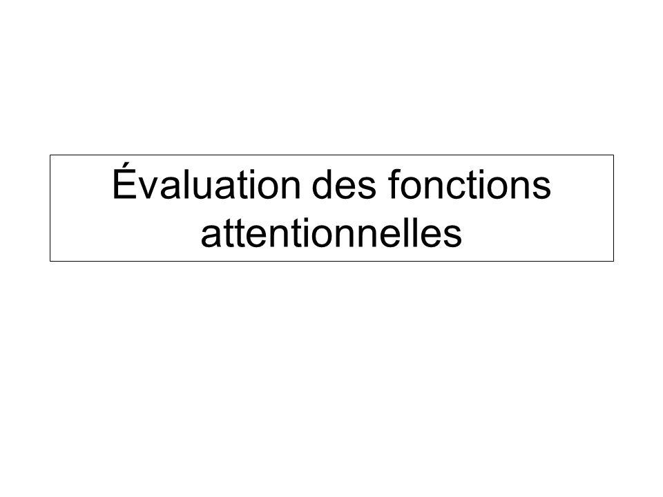 Évaluation des fonctions attentionnelles