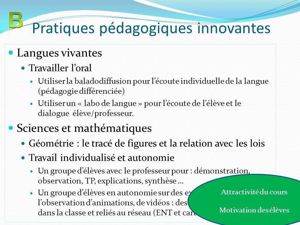 Pratiques pédagogiques innovantes Langues vivantes Travailler loral Utiliser la baladodiffusion pour lécoute individuelle de la langue (pédagogie diff