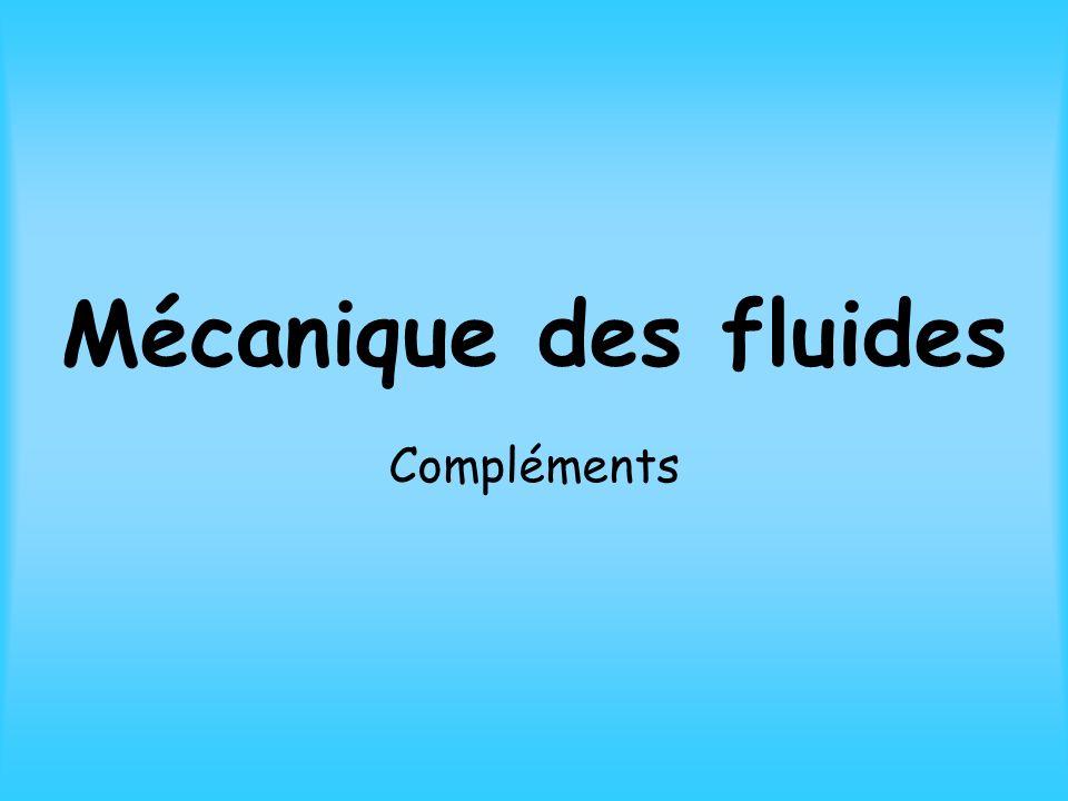 III - Dynamique des fluides parfaits 1) Viscosité
