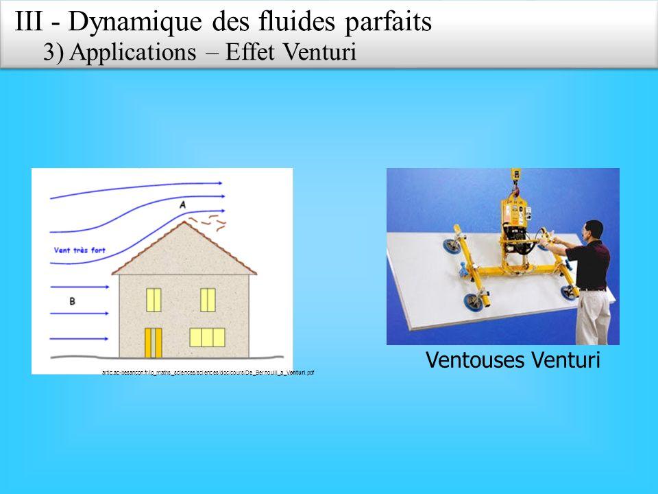 artic.ac-besancon.fr/lp_maths_sciences/sciences/doc/cours/De_Bernoulli_a_Venturi.pdf Ventouses Venturi III - Dynamique des fluides parfaits 3) Applica