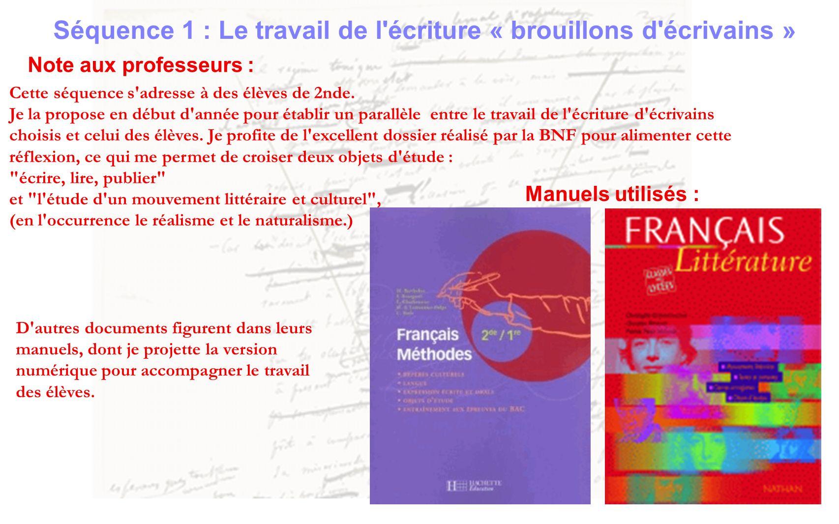 Documents : sujet de brevet 2008 (Zola, le grand Michu) lecture cursive Manuel de méthodes : p.