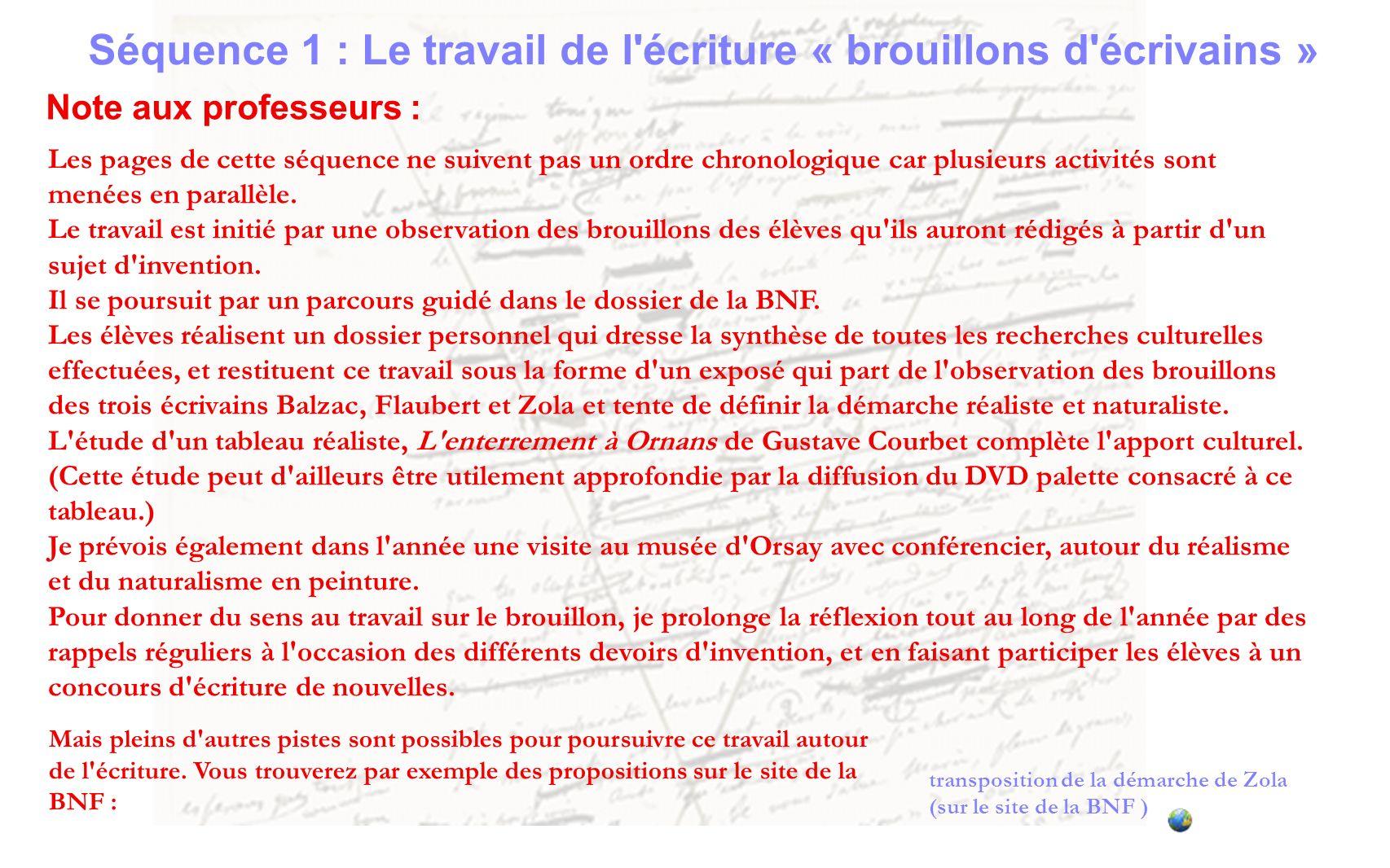 Arrêt sur le travail C)- d Emile Zola Exploration du dossier de la BNF consacré au travail d écriture Emile Zola.
