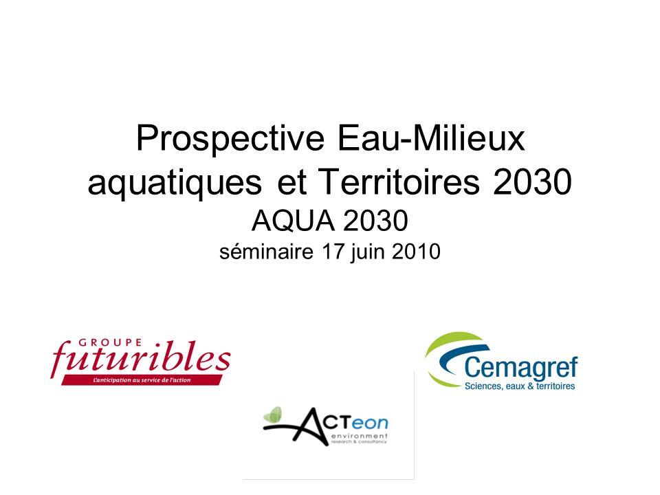 Prospective Eau-Milieux aquatiques et Territoires 2030 AQUA 2030 séminaire 17 juin 2010