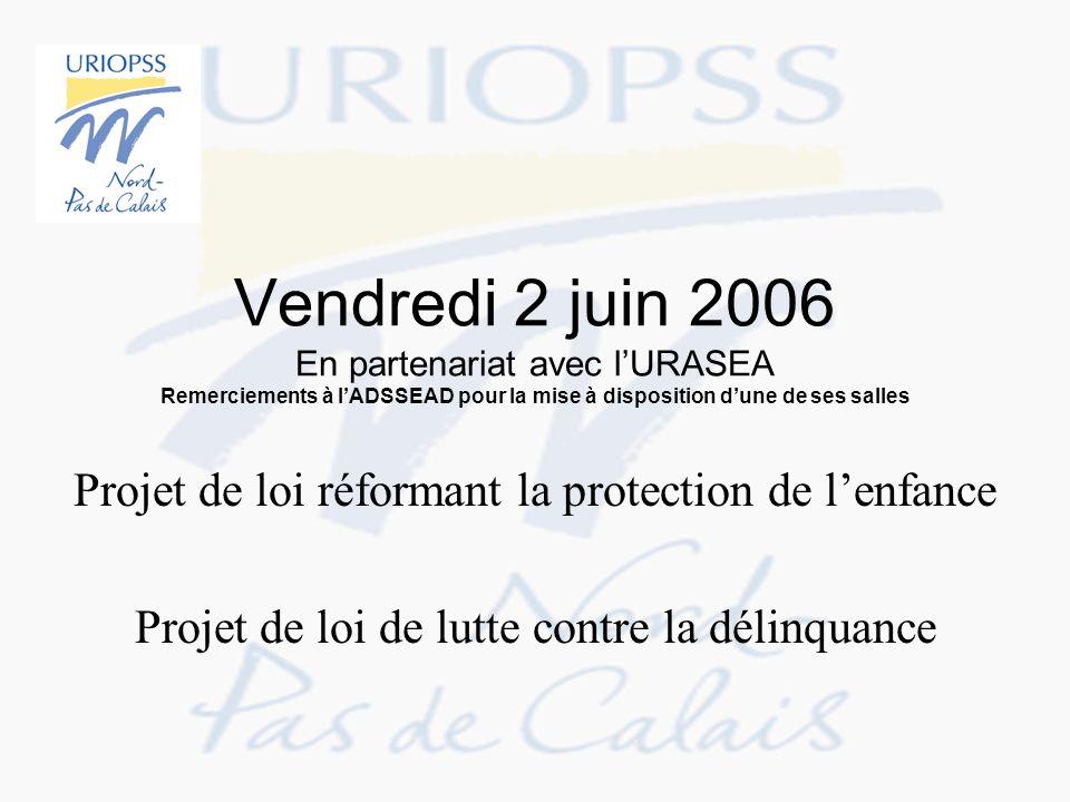 Vendredi 2 juin 2006 En partenariat avec lURASEA Remerciements à lADSSEAD pour la mise à disposition dune de ses salles Projet de loi réformant la pro