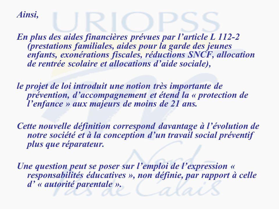 Article 8 Il est inséré dans le code de laction sociale et des familles, après larticle L.