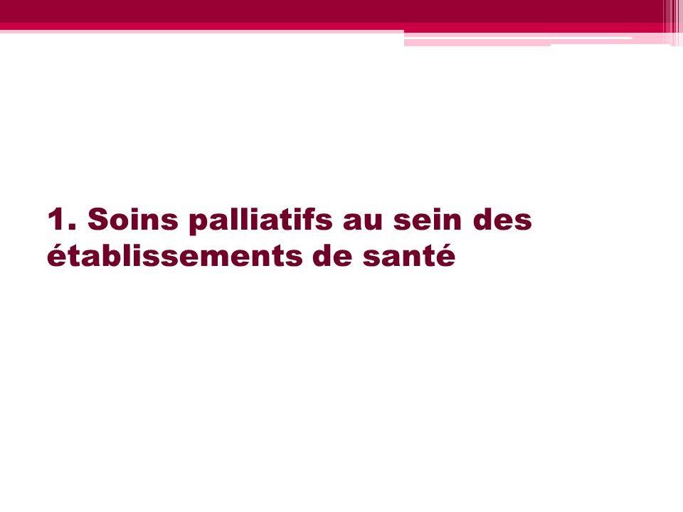 1. Soins palliatifs au sein des établissements de santé