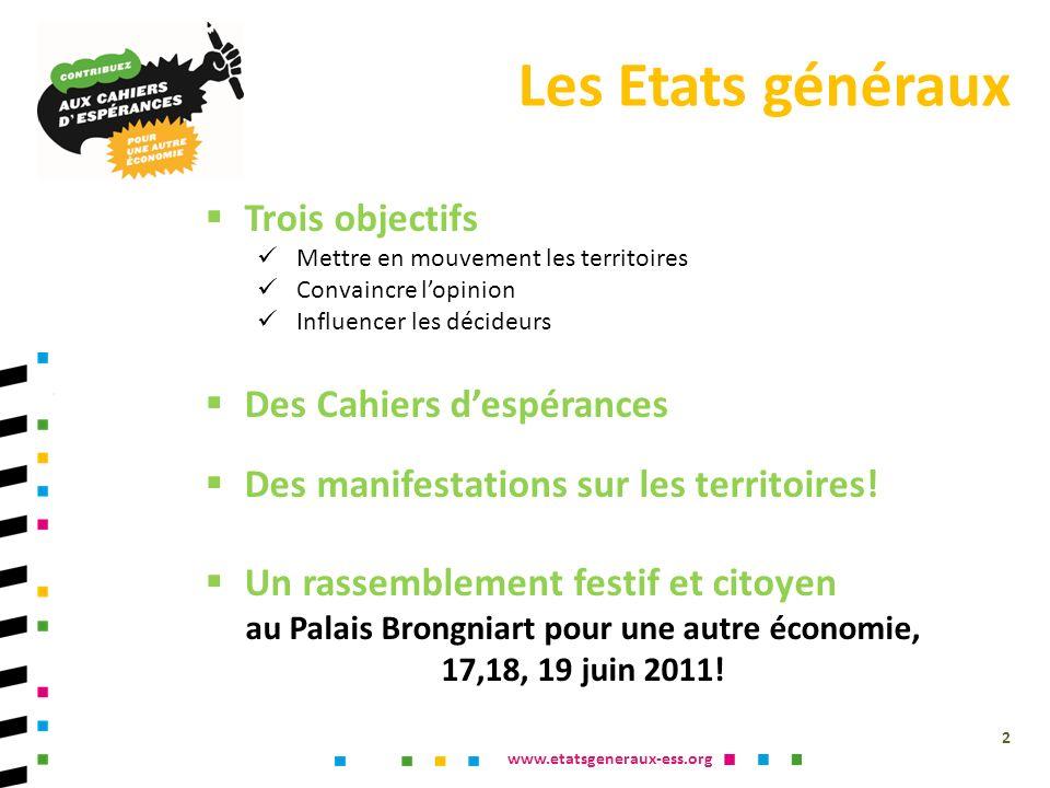 www.etatsgeneraux-ess.org Les Etats généraux de 1789 sétaient organisés autour de cahiers de doléances.