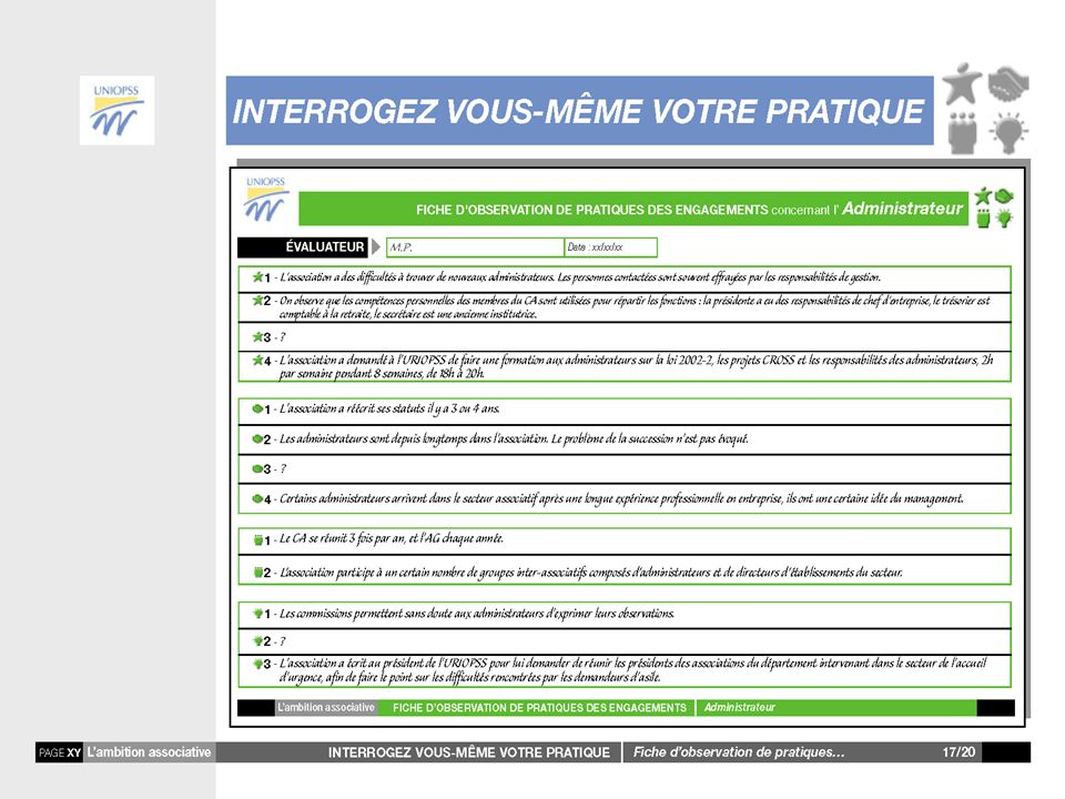 22 Lambition associative Guide pour interroger nos pratiques