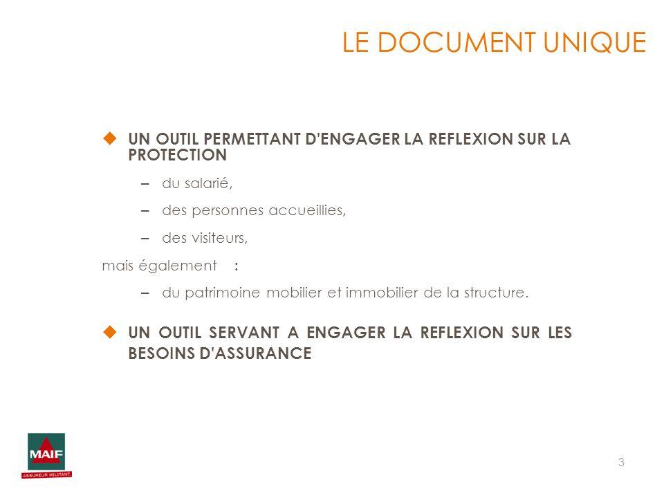 3 UN OUTIL PERMETTANT D'ENGAGER LA REFLEXION SUR LA PROTECTION – du salarié, – des personnes accueillies, – des visiteurs, mais également : – du patri
