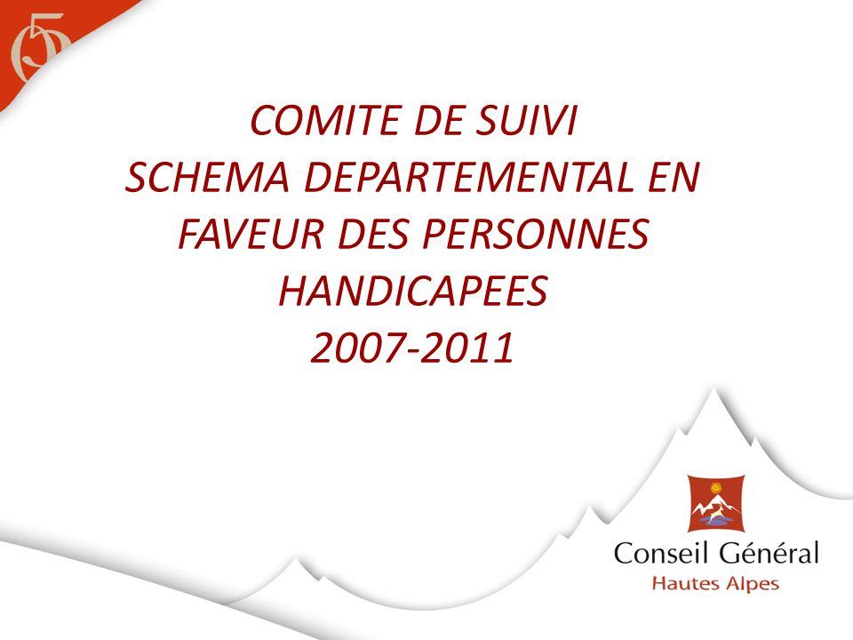 COMITE DE SUIVI SCHEMA DEPARTEMENTAL EN FAVEUR DES PERSONNES HANDICAPEES 2007-2011