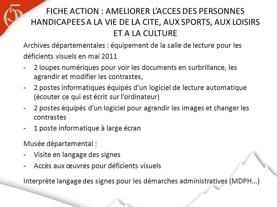 Archives départementales : équipement de la salle de lecture pour les déficients visuels en mai 2011 -2 loupes numériques pour voir les documents en s