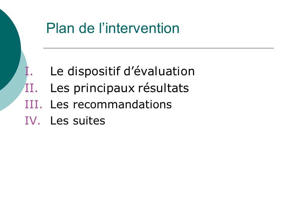 III - Recommandations