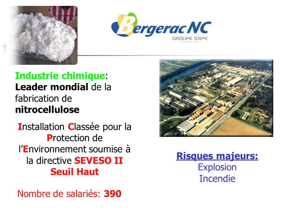 Industrie chimique: Leader mondial de la fabrication de nitrocellulose Installation Classée pour la Protection de lEnvironnement soumise à la directiv