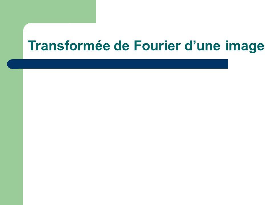 Transformée de Fourier dune image