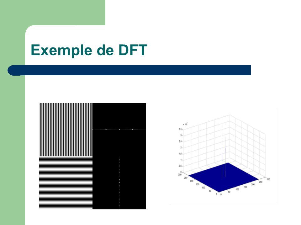 Exemple de DFT
