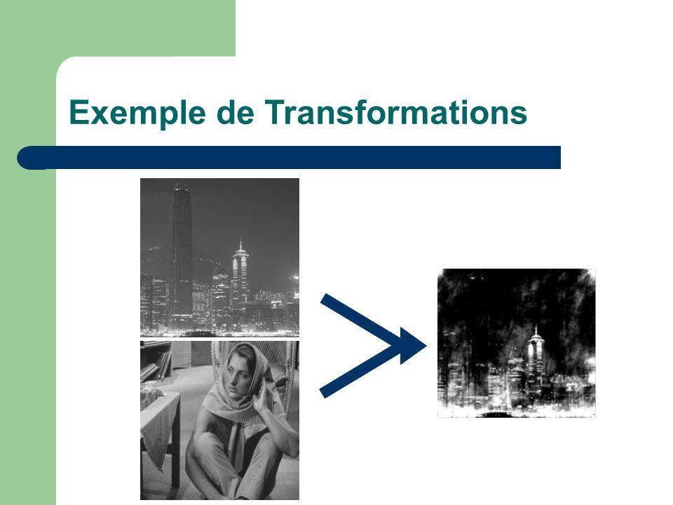 Exemple de Transformations