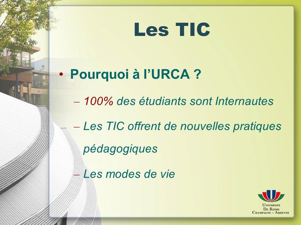 Les TIC Pourquoi à lURCA .