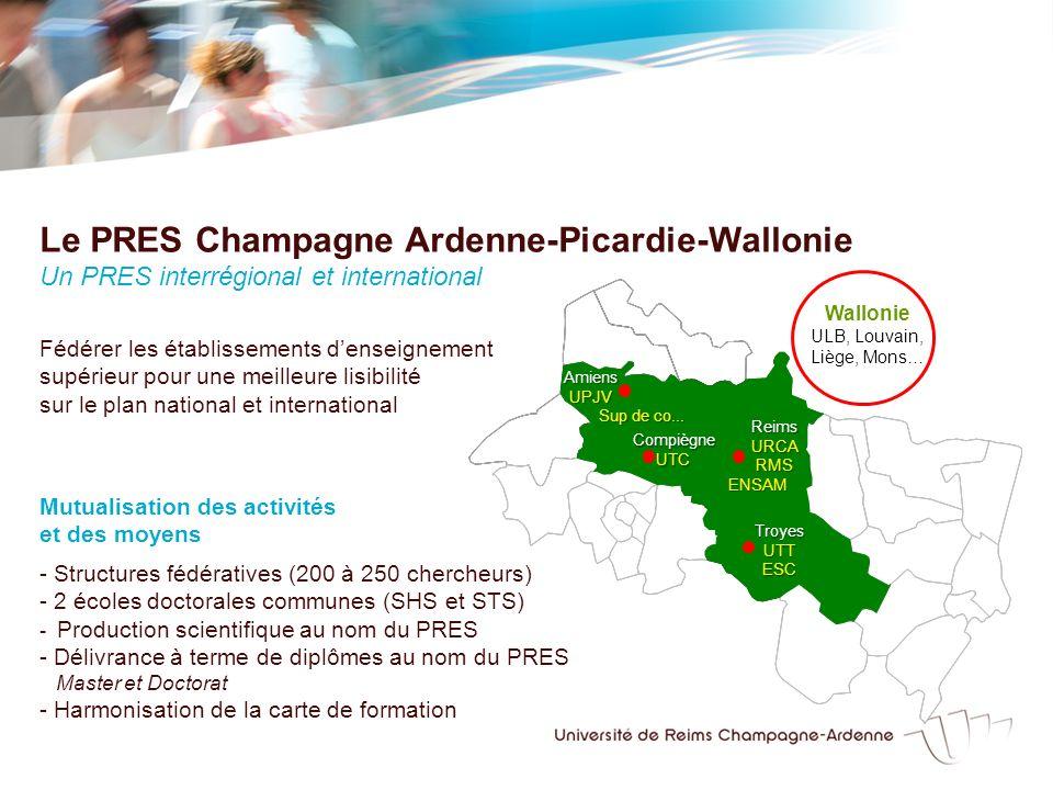 Membres fondateurs Les autres établissements denseignement supérieur Les EPST Les collectivitésLes CHU Membres associés de Champagne Ardenne Les CROUS ARD… Les entreprises Les pôles de compétitivité