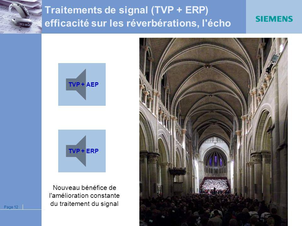 Page 11 Signal original Signal traité par TVP : Signal traité par ERP : Signal traité par TVP + ERP : Traitements de signal (TVP + ERP) efficacité sur
