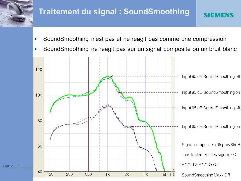 Page 19 Désactivable renouvellements Efficacité réglable préférence patient Seuil réglable uniquement les sons gênants, pas les utiles 1 ère onde régl