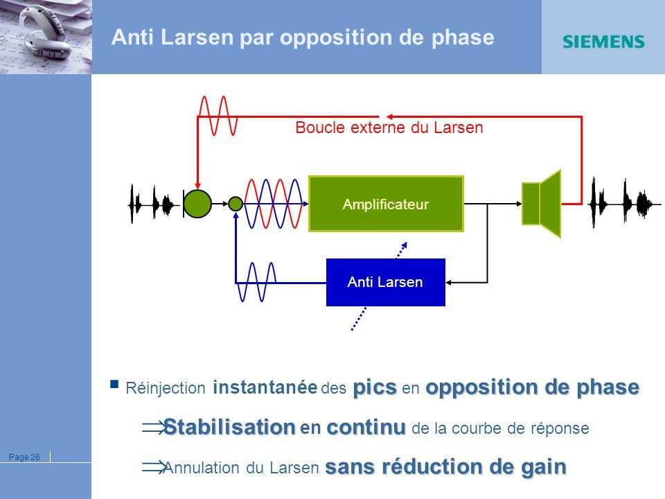 Page 25 Réduction du bruit microphonique
