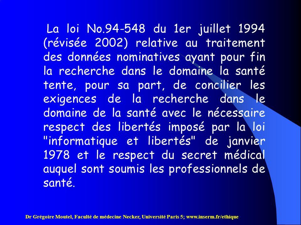 Dr Grégoire Moutel, Faculté de médecine Necker, Université Paris 5; www.inserm.fr/ethique I - Notion de droit A-La hiérarchie des normes Les lois constitutionnelles se situent au niveau le plus élevé.