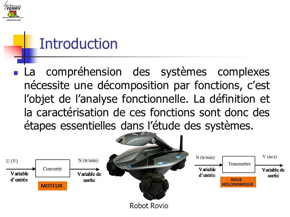 Introduction La compréhension des systèmes complexes nécessite une décomposition par fonctions, cest lobjet de lanalyse fonctionnelle. La définition e