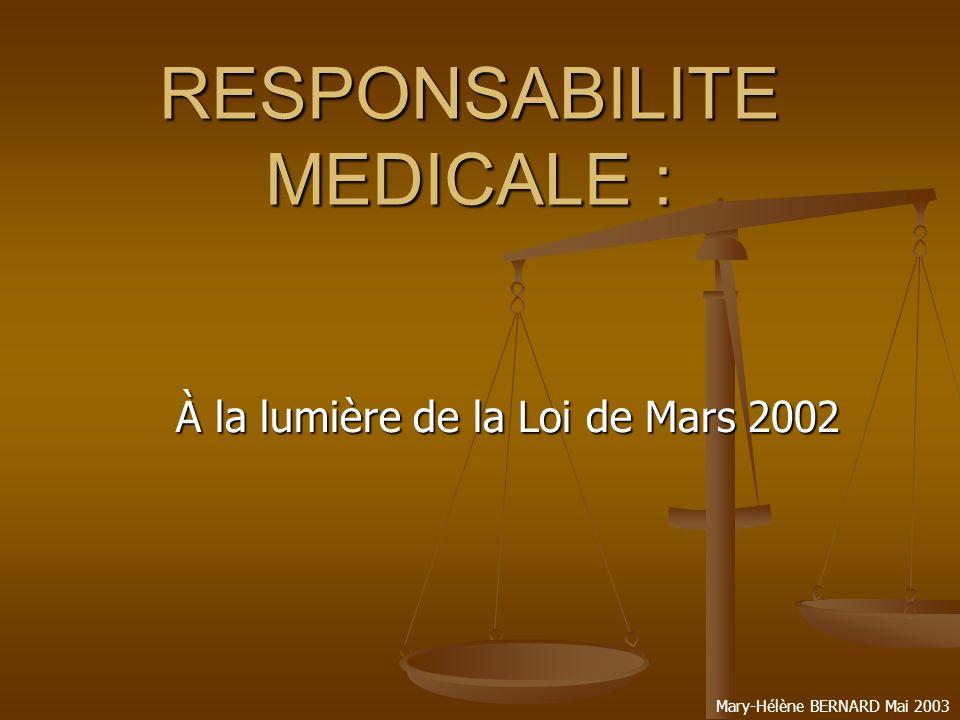 Mary-Hélène BERNARD Mai 2003 Où en est-on .