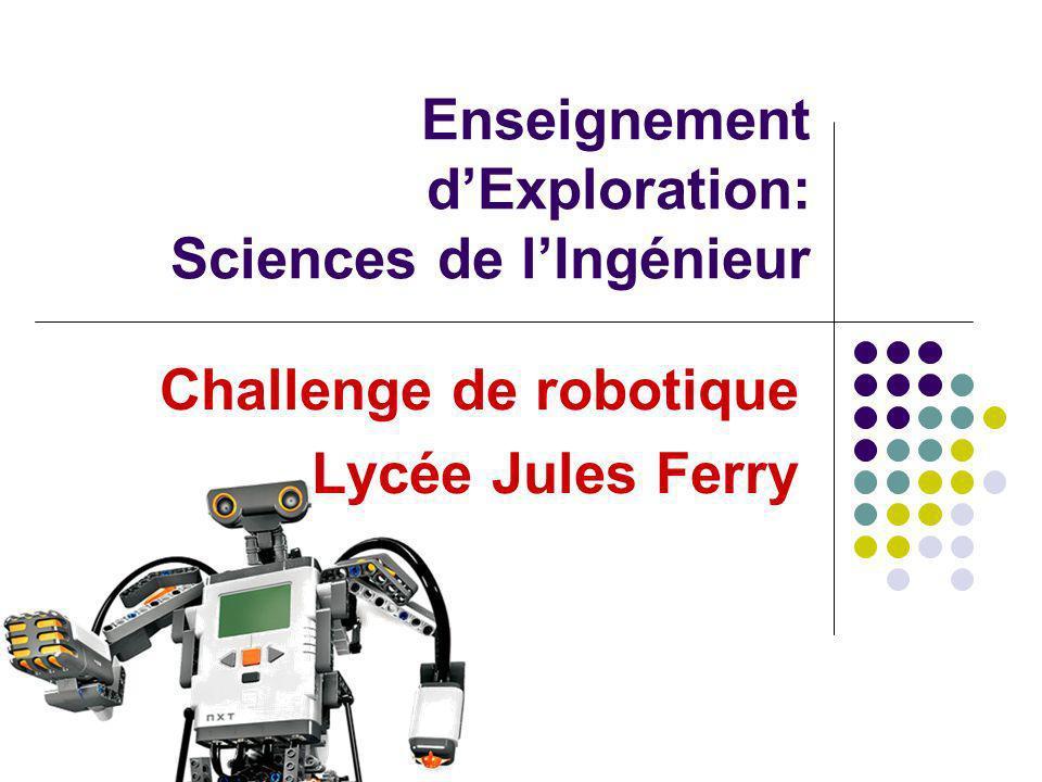 Enseignement dExploration: Sciences de lIngénieur Challenge de robotique Lycée Jules Ferry