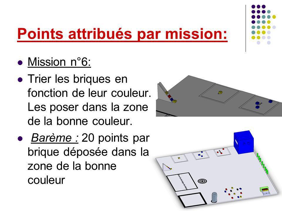 Mission n°6: Trier les briques en fonction de leur couleur.