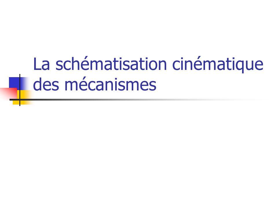 La schématisation cinématique des mécanismes