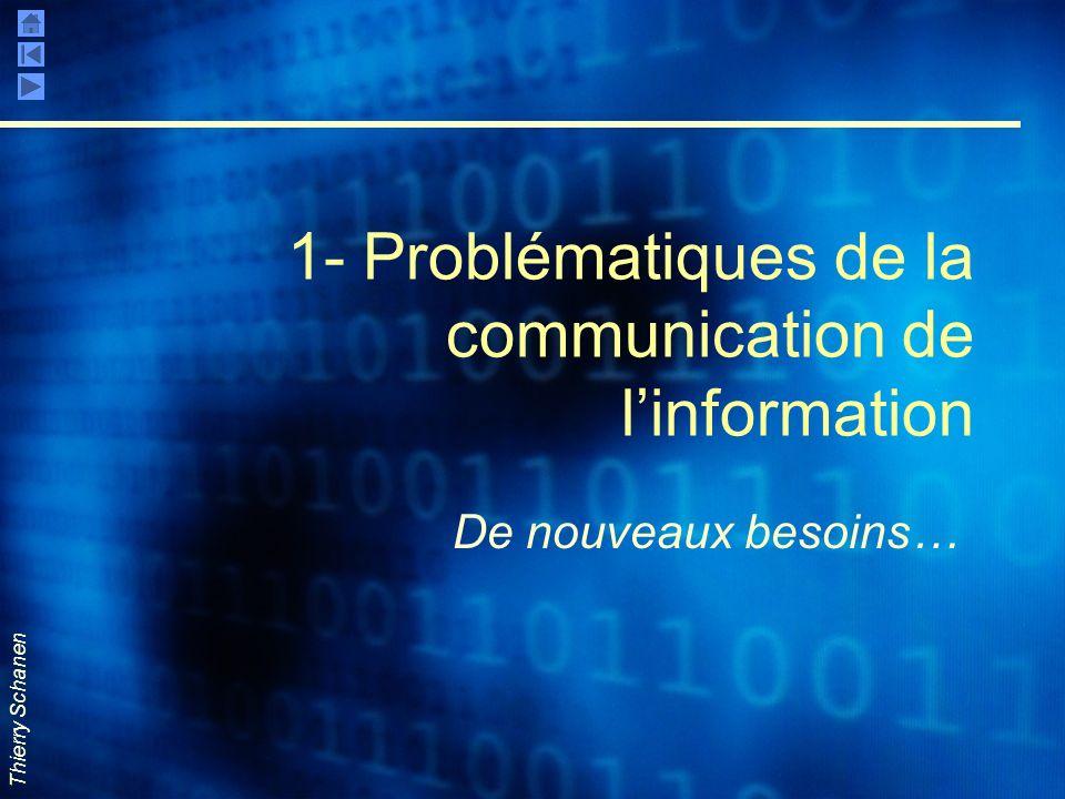 Thierry Schanen 1- Problématiques de la communication de linformation De nouveaux besoins…