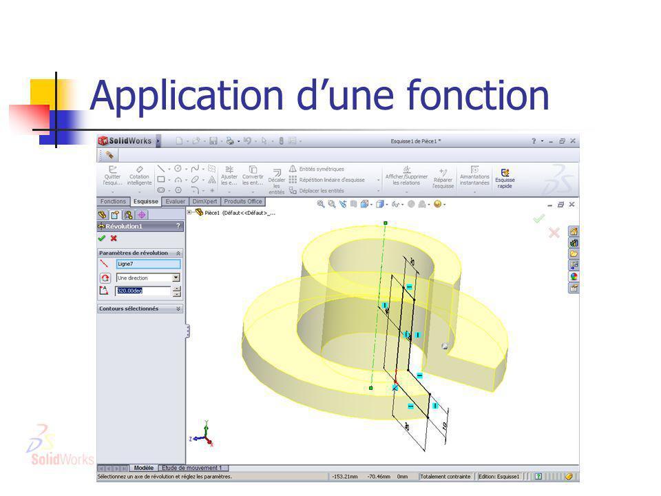 Application dune fonction