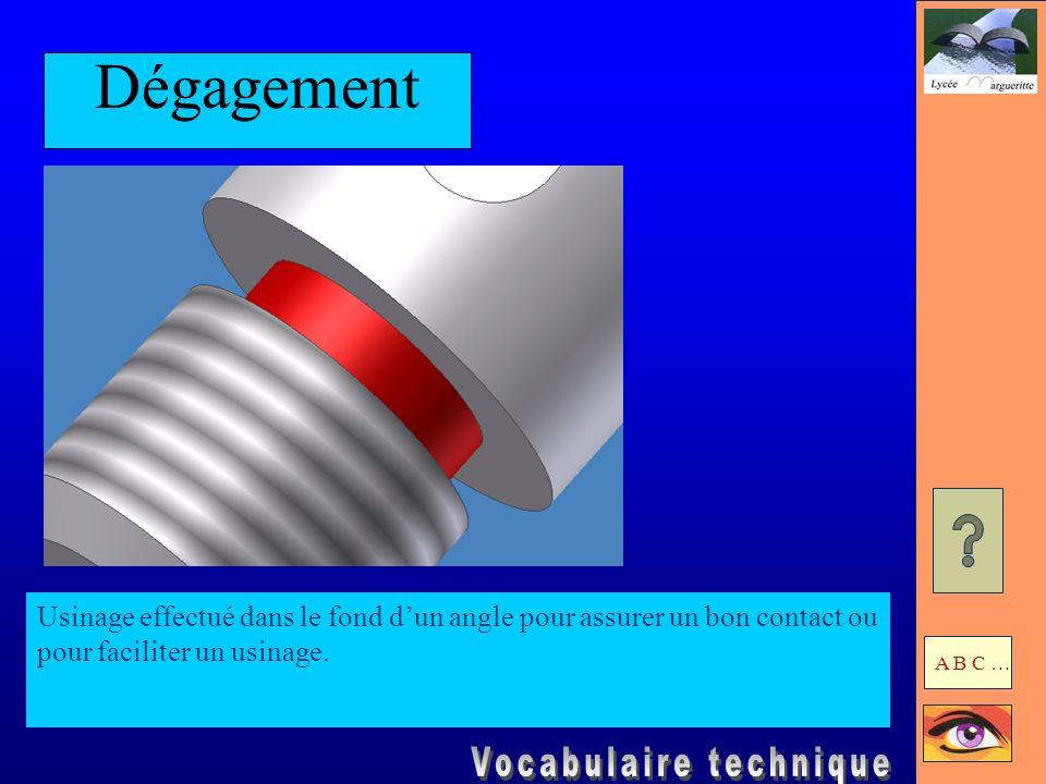 Filetage Rainure hélicoïdale exécutée sur un cylindre.
