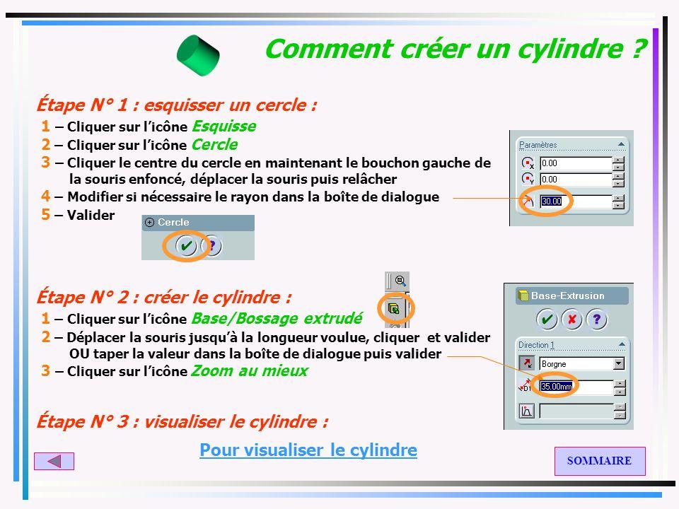 SolidWorks : CREATION de VOLUMES Créer un cylindre Créer un parallélépipède Créer un tube Ecran général de SolidWorks 1 2 3 4 7 A 6 5 8 B C 10 9 Créer