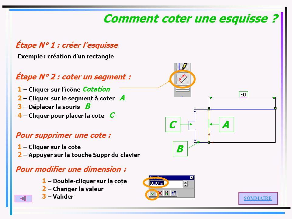 Comment créer une coque ? Étape N° 1 : créer le volume Étape N° 2 : créer la coque : 1 – Cliquer sur licône Coque 2 – Modifier si nécessaire lépaisseu