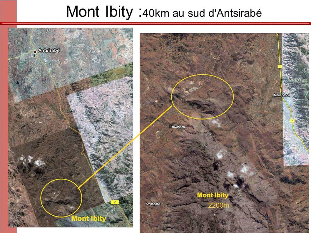 Mont Ibity : 40km au sud d'Antsirabé 2200m
