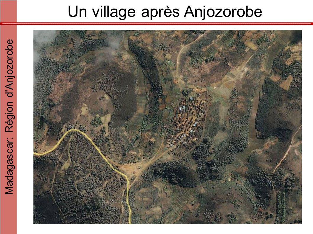 Un village après Anjozorobe Madagascar: Région d'Anjozorobe