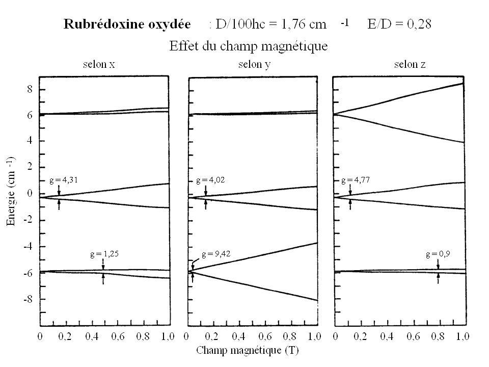Calcul avec |D|=0,16 cm –1 z xy xyz ß xy xy & ß B (T)