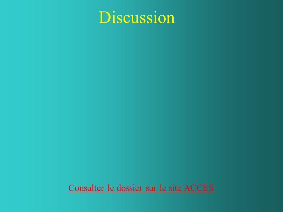 Discussion Consulter le dossier sur le site ACCES