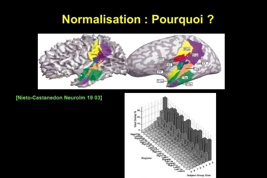 Normalisation : Pourquoi ? [Nieto-Castanedon NeuroIm 19 03]
