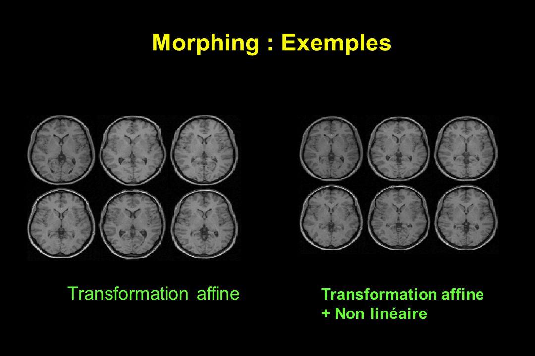 Morphing : Exemples Transformation affine + Non linéaire