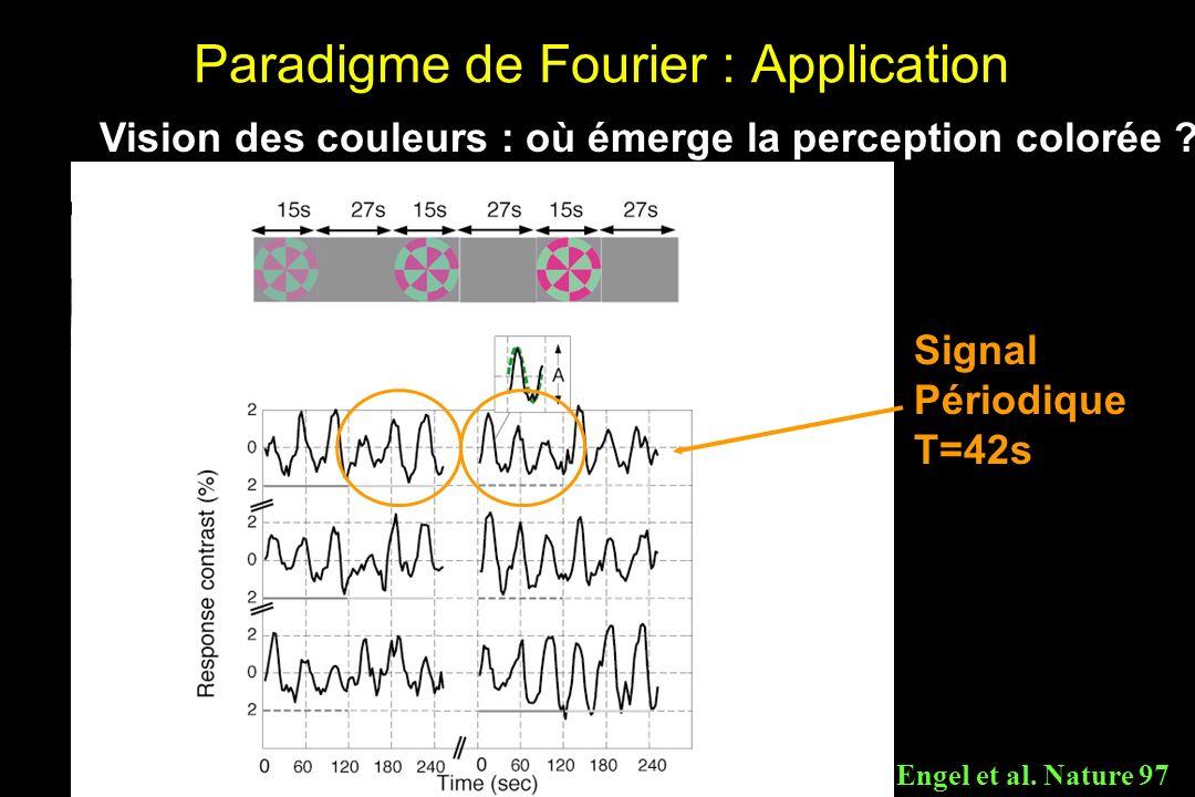 Paradigme de Fourier : Application Vision des couleurs : où émerge la perception colorée .