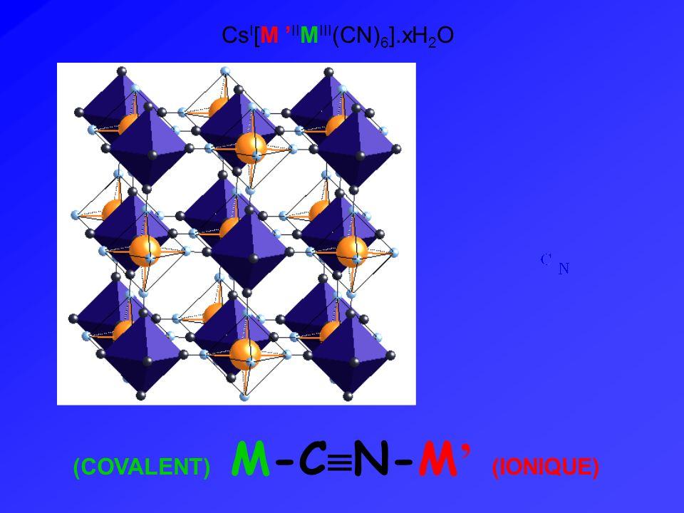 (COVALENT) M-C N-M (IONIQUE) Cs I [M II M III (CN) 6 ].xH 2 O